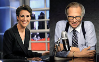 Larry King y Rachel Maddow, un duelo generacional