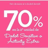 70% de descuento en la segunda unidad de pañales Dodot Sensitive y Activity en Toys 'r us