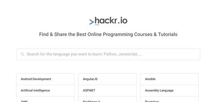 Usa este buscador para encontrar los mejores cursos y tutoriales de programación en la web