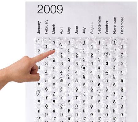 Calendarios 2009: Bubble Calendar
