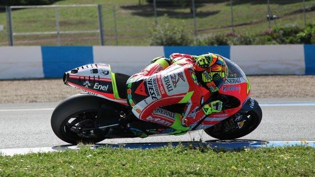 Valentino Rossi sobre la Ducati Desmosedici GP12