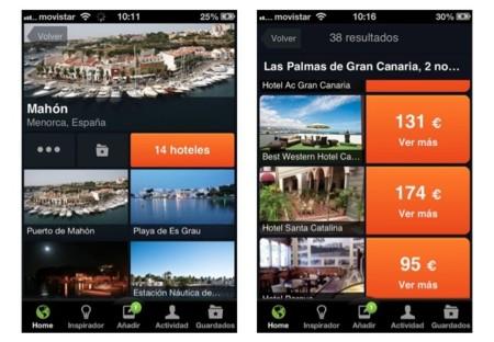 El inspirador de minube permite reservar tu hotel directamente desde la app