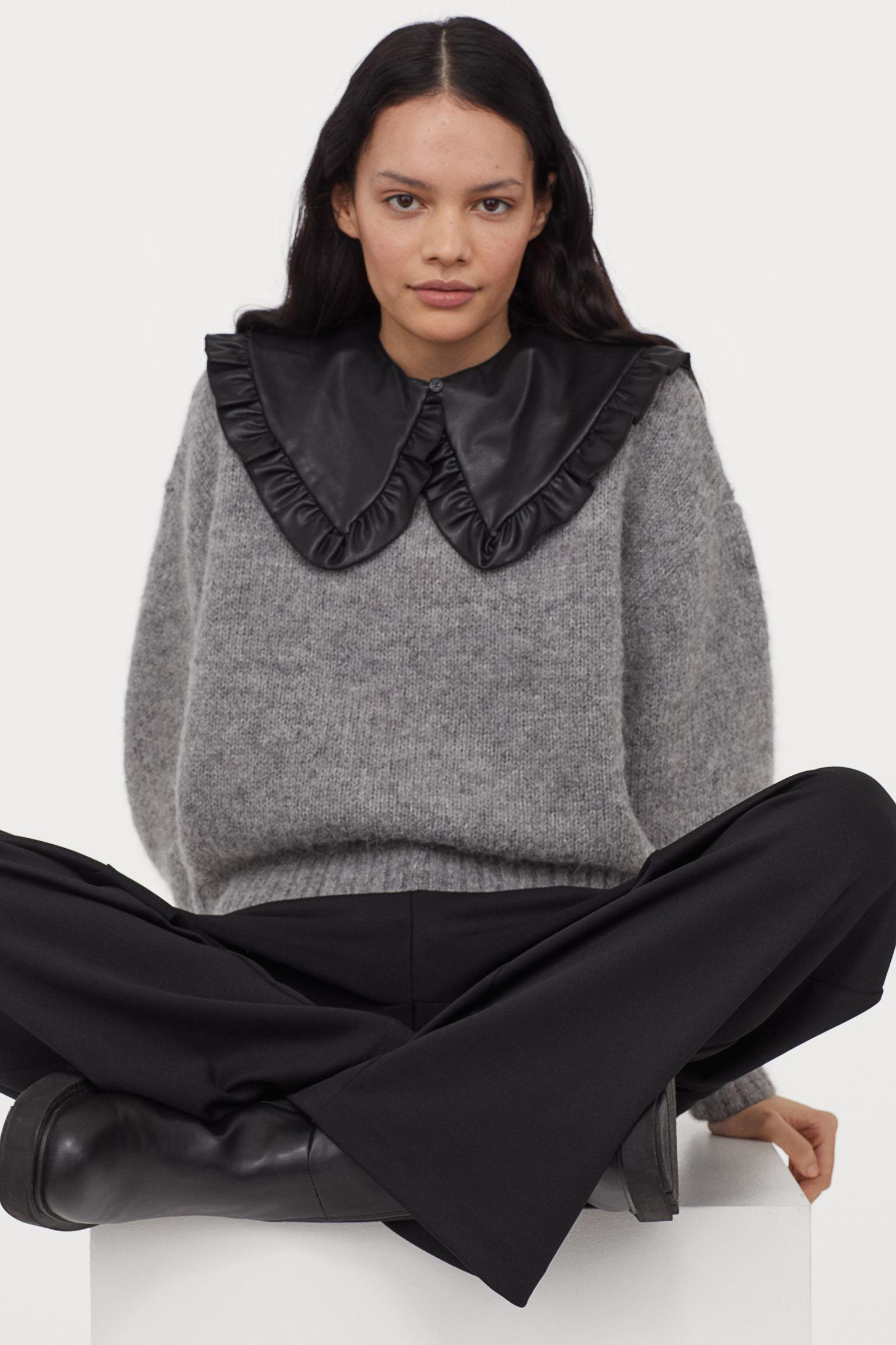 Jersey de lana con cuello