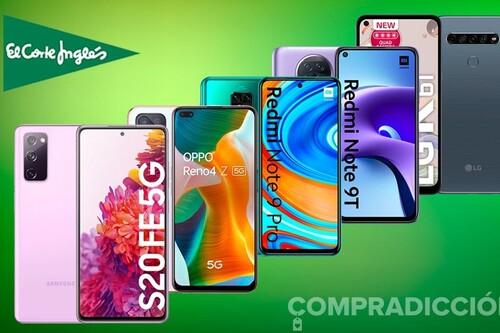 Estos smartphones de LG, OPPO, Samsung o Xiaomi te salen hasta un 40% más baratos esta semana en El Corte Inglés