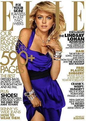 Lindsay Lohan en la revista Elle