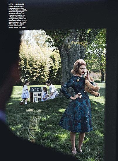 Natalia Vodianova en Vogue Estados Unidos estilo años 60