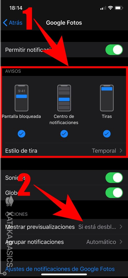 Configura Notificaciones