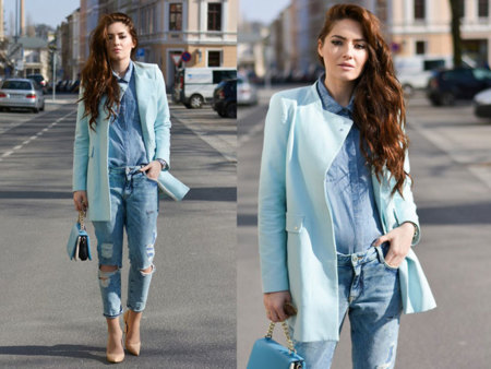 Total Look Vaquero pastel