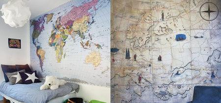 17 papeles pintados con mapa del mundo