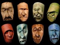 El arte de crear rostros con el rollo del papel de WC, por Junior Fritz Jacquet