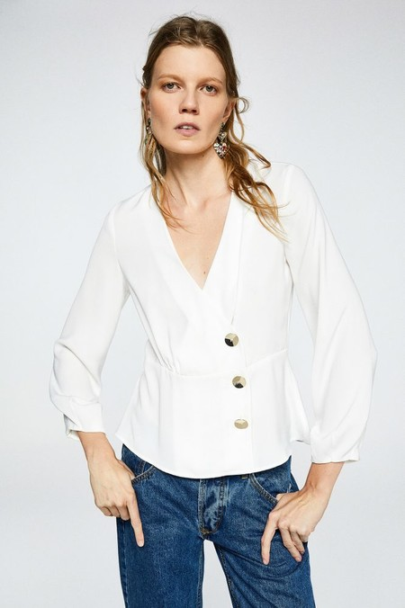 camisa cruzada botones