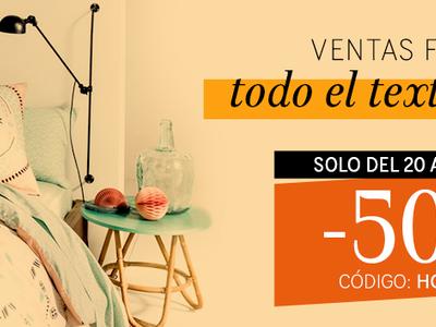 Esta oferta finaliza hoy a medianoche: 50% de descuento en la sección textil hogar de La Redoute