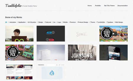 tumblofolio tumblr theme