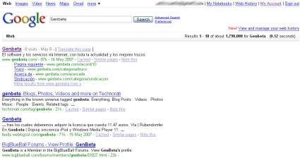 Nueva página de búsqueda para Google