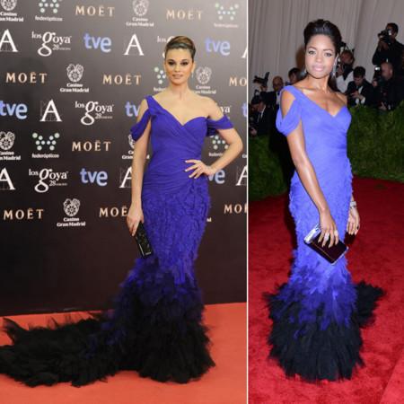 Norma Ruiz vs Naomie Harris clon Goya 2014