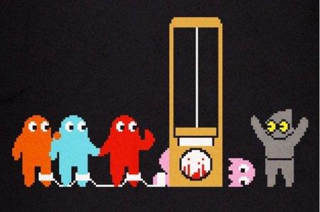 Camiseta sobre cómo murieron los Pac-Man