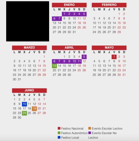 Calendario Escolar Barcelona