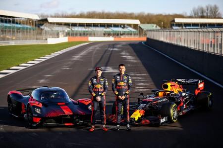 Aston Martin Valkyrie Aston Martin Red Bull Racing Rb16 Joined By Max Verstappen Alex Albon 1 Jpg