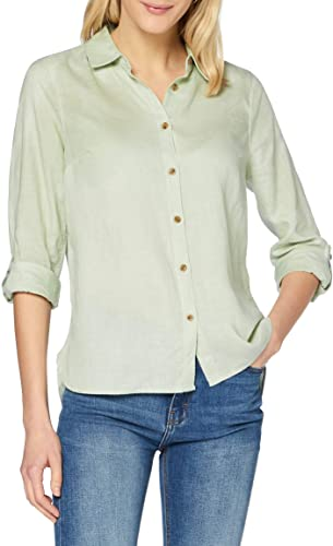 find. Camisa de Lino de Manga Larga Mujer