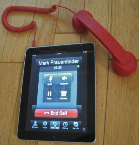 Imagen de la semana: haz llamadas con tu iPad
