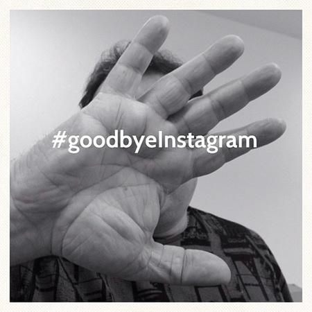 #goodbyeInstagram