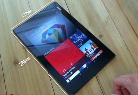 tamaño z2 tablet