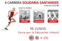 II Carrera Solidaria Santander para apoyar a la educación infantil