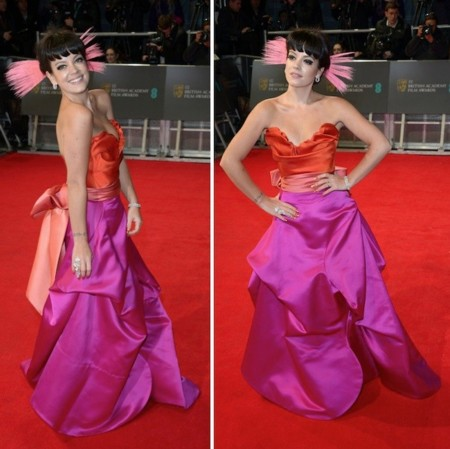 lily allen outfit bafta