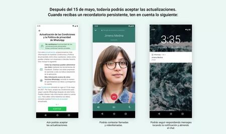 WhatsApp cambia sus condiciones de uso: esto es lo pasará en tu cuenta a partir de ahora si no las aceptas