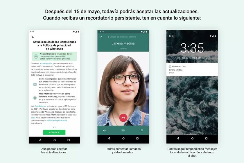 WhatsApp cambia hoy, 15 de mayo, sus condiciones de uso: esto es lo pasará en tu cuenta a partir de ahora si no las aceptas