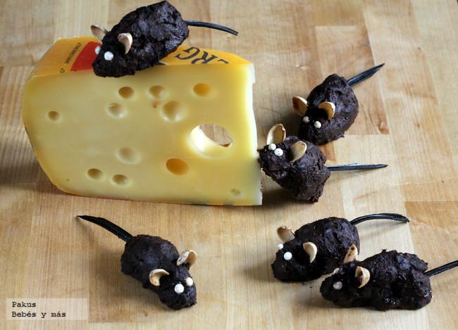 Ratones de chocolate, receta divertida para Halloween