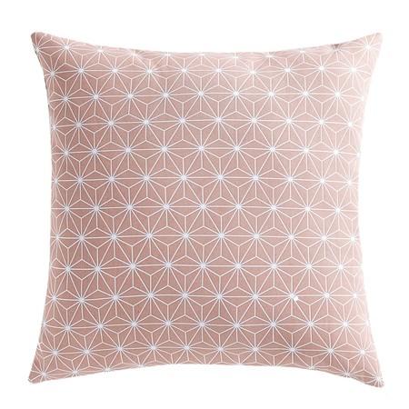 Cojín rosa geométrico