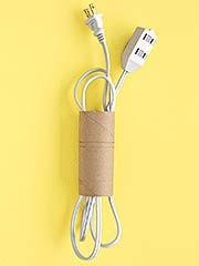 Una forma original de evitar cables desordenados
