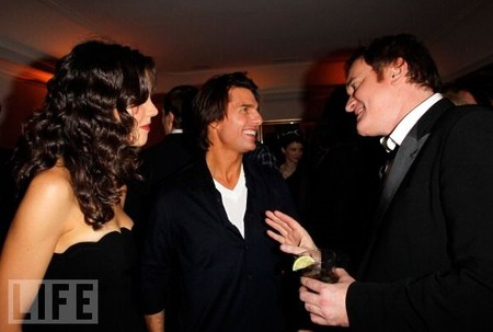 Katie Holmes, Tom Cruise y Quentin Tarantino