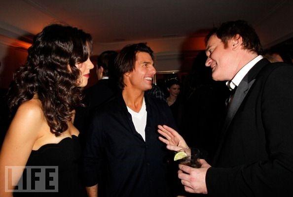 Katie Holmes, Tom Cruise y Quentin Tarantino