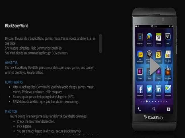 """Novedades y confirmaciones sobre BlackBerry 10 en """"material de entrenamiento"""""""