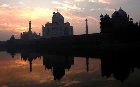 Taj Mahal desde el Yamuna
