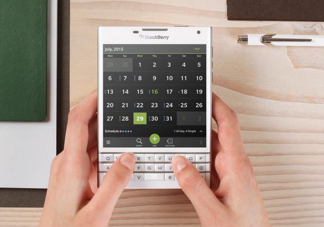 El cuadrado aspecto de las aplicaciones en BlackBerry Passport