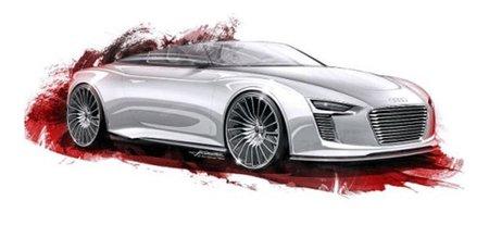 ¿Bocetos oficiales del Audi e-tron Roadster/Anniversario Concept?