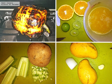 Gazpacho de mango y pimiento. Receta fácil para esta temporada de calor