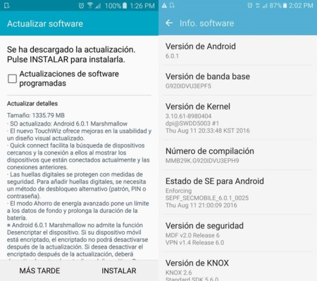Android 6 0 1 Marshmallow Galaxy S6 Telcel 1