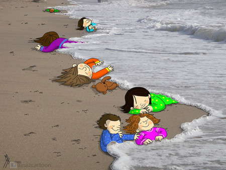 Syrian Boy Drowned Mediterranean Tragedy Artists Respond Aylan Kurdi 2 700