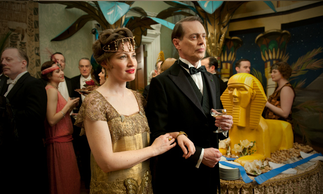 Nucky Thompson y Margaret en Boardwalk Empire