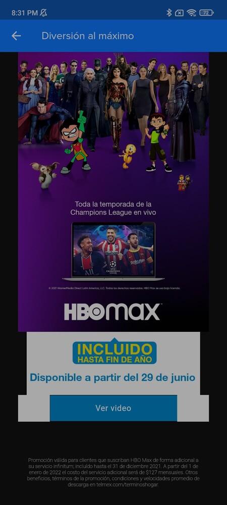 Telmex Promocion Hbo Max Clientes Infinitum Regalo Seis Meses