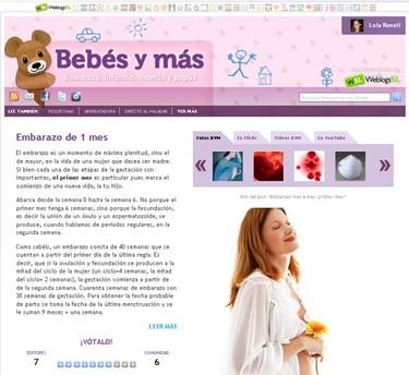 La guía de Bebés y más: toda la información sobre las etapas del embarazo y del bebé