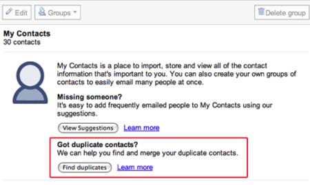 Gmail permite eliminar los contactos duplicados automáticamente