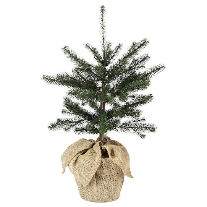 VINTER 2020 Planta artificial, int/ext yute/árbol de navidad verde19 cm