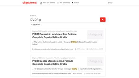 Así es como Change.org está siendo utilizado para compartir series y películas ripeadas