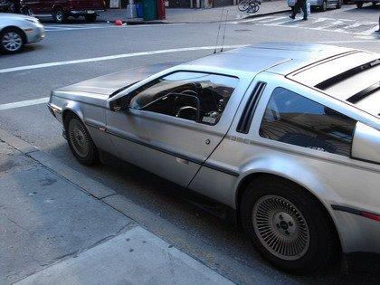 Un DeLorean en las calles de Nueva York