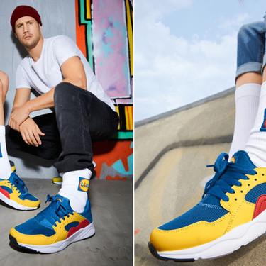 Lidl ha sacado unas zapatillas con sus colores corporativos. Se están revendiendo a 500€